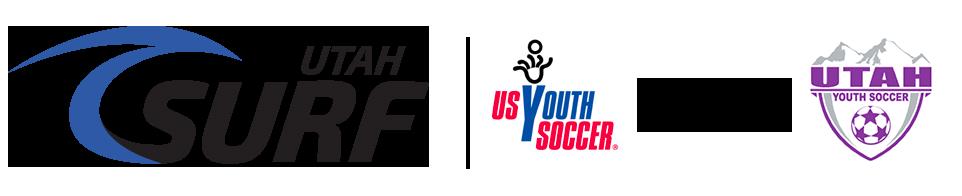 Utah Surf Soccer Club Retina Logo